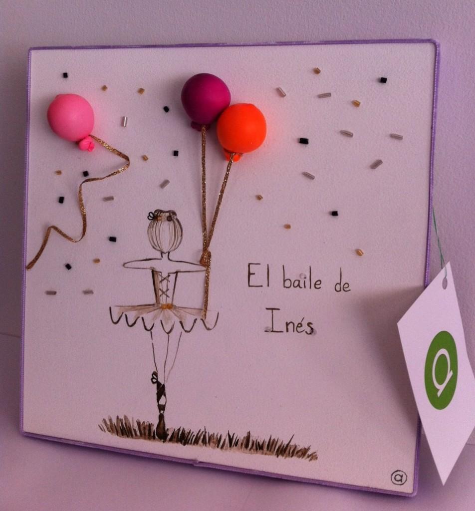 Cuadro infantil Bailarina globos