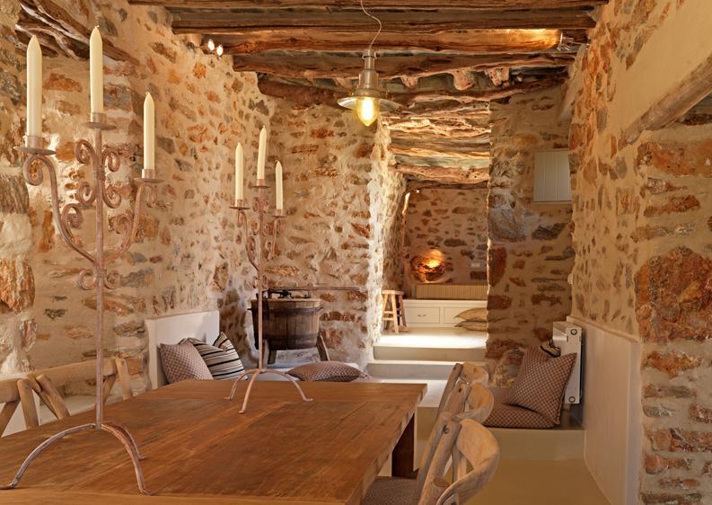 Dise o interior en piedra a interiorismo - Piedras pared interior ...