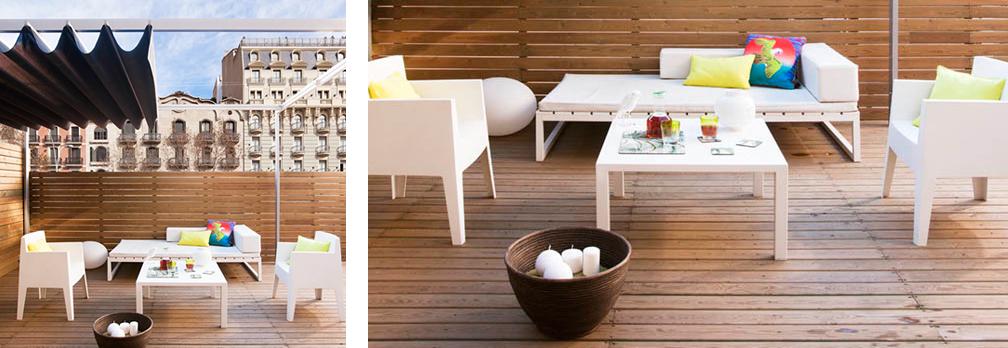 terraza de madera de teca