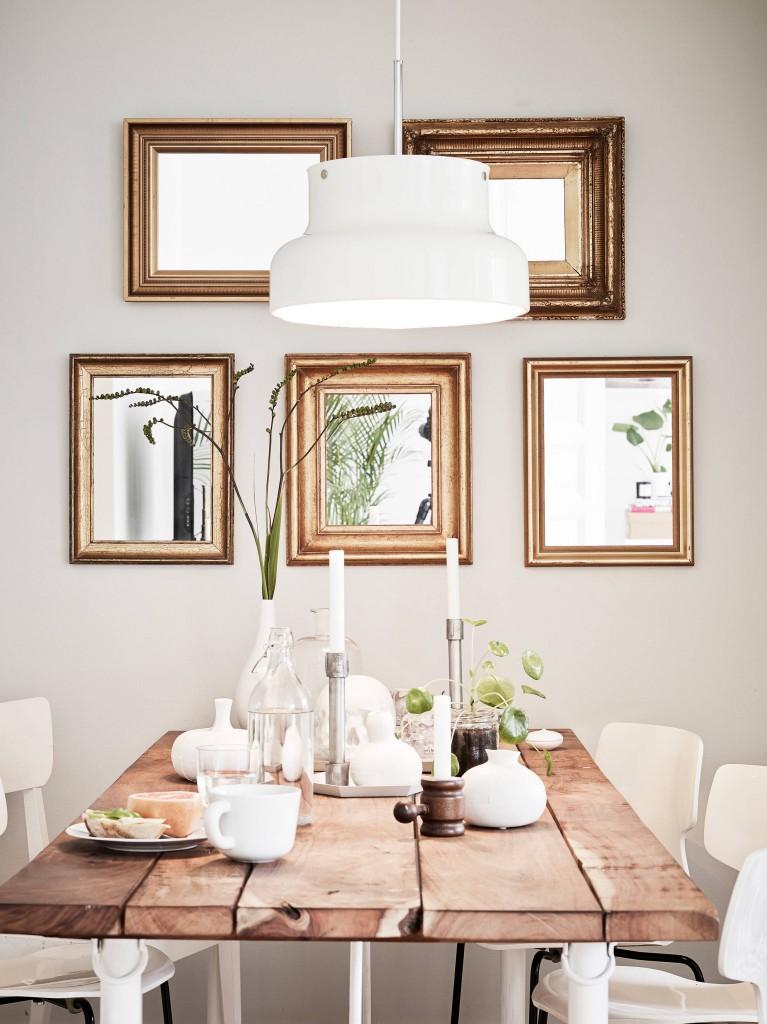 decoración elegante y casual para un comedor