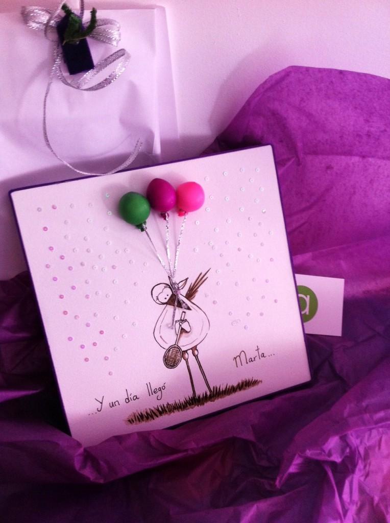 cuadro diseño con globos