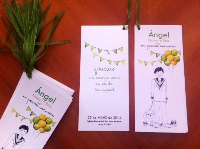 diseño de invitaciones de comunion