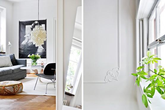 decoracion  blanca con toque de VERDE